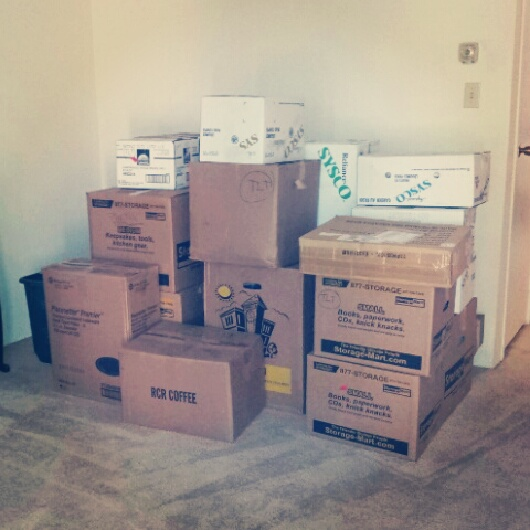 Here's a chunk of my life, didn't seem like a lot once it all arrived to the new place.