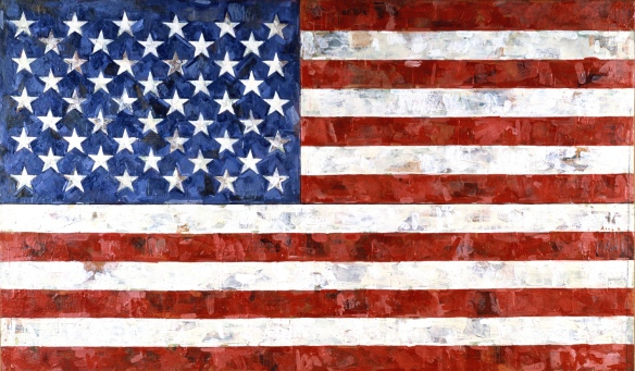 Flag, by American contemporary artist Jasper Johns